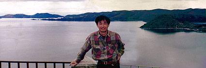 1995年ボリビア,チチカカ湖にて